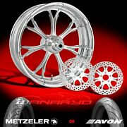 Performance Machine Paramount Chrome 21 Front Wheel Tire And Dual Rotors