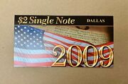 2003a 2 Two Dollar Dallas Single Note Uncirculated Authentic