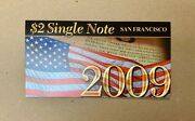 2003a 2 Two Dollar San Francisco Single Note Uncirculated Authentic