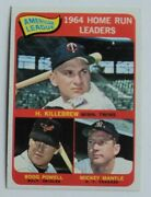 High Grade 1965 3 A.l. Hr Leaders Mantle Killebrew Powell Mint - Flash Sale