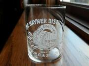 Pre Pro Hayner Distilling Co. Etched Whiskey Shot Glass Dayton,oh St. Louis Mo