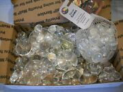 Clear Glass Marbles / Discs Pieces - Crafts / Mosaic / Flower Vases ++