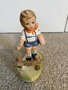 Erich Stauffer Figurine Vintage Boy Walking To School Signed And Numbered 55/972