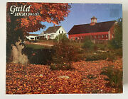 Vintage Whitman Guild 1000 Piece Jigsaw Puzzle - Farm In Fall - New / Sealed