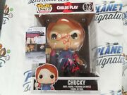 Alex Vincent Andy Signed Child's Play 10' Funko Pop W/ Chucky Did It Jsa Coa