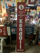 Kendall Oil Sign Huge Kendall Sign Very Rare Embossed 6 Footer Motor Oil Sign