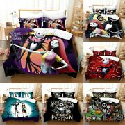 The Nightmare Before Christmas Comforter Cover Pillowcases Bedding Set 3pcs Gift