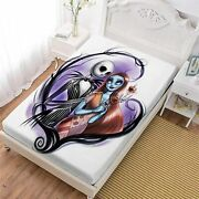 The Nightmare Before Christmas Deep Pocket Fitted Sheet Pillowcases Bed Sheet