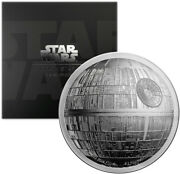 Niue 5 Dollars 2018 2oz Silver Proof And039star Wars - Death Starand039 Ultra High Relief