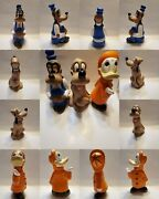 Disney Porcelain Pottery Figurines 9' Donald,pluto And Goofy Hand Painted