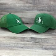 Vtg Pioneer Seed Corn Farm Mesh Snapback K-products Lot Of 2 Small/med Free Ship