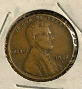 1924-d Lincoln Wheat Cent Penny Xf Extremely Fine - Old U.s. Coins
