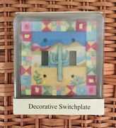 Southwestern/desert/cactus Decorative Switchplate - Double Toggle - New In Box