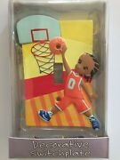 Basketball Design - Decorative Switchplate - Single Toggle - New In Box
