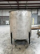 Stainless Steel Tank Vertical Open Top Mixing Vessel - 400 Gallons Dish Bot