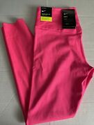 Ret90 Nwt Nike One Luxe Tight Fit Tights Sz Medium Mid Rise 7/8 Length Bq9994