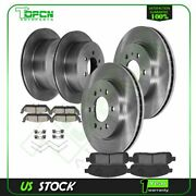 Front And Rear Ceramic Brake Pads With Rotors For 2009 Ford F-150 5.4l