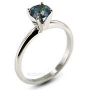 0.52ct Blue Vs1 Round Natural Diamond 14k Classic Solitaire Engagement Ring