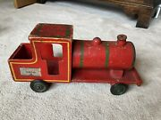 Lovely Vintage Tri-ang Loco Train With Trailer And Building Blocks