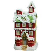 Northlight 21.25 Christmas Morning Led Snowy 2 Story House Musical Figure