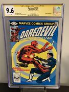 Daredevil 183 Cgc 9.6 White Pages Signed Stan Lee. Punisher Appearance.