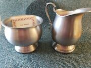 Vintage Early American Pewter By Web Silver Co.-cream And Suger Set, Never Used