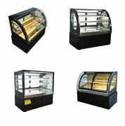 Hot Sale Various Size 110v/220v Curved/cubed Glass Bakery Display Case Cabinet