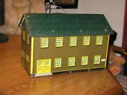1950and039s Vintage Marx Tin Toy Usa Army Military Barracks Play Set Building