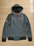 Superdry Storm Menand039s Hooded Jacket - Size Medium - Green W/ Orange Accents