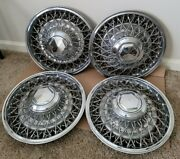 Dodge/chrysler 15 Inch Wire Spoke Hubcaps Wheel Covers With Key