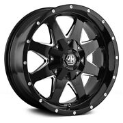 Mayhem 8040 Tank Wheels 18x9 -12 5x127 87 Black Rims Set Of 4