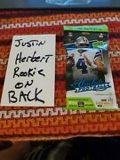 Justin Herbert Absolute Football Jumbo Pack Sealed With Him On Back