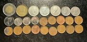 Lot Of 25 Canadian Coins Canada Penny Nickel Dime Quarter Dollar 1940 - 2016