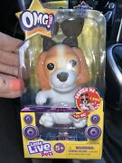 Little Live Pets Omg Soft Rare Collectible Beagle W/sunglasses, Bow, New