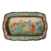 Vintage Chinese Powder Doped Color Eight Immortal Display Dish Vs027