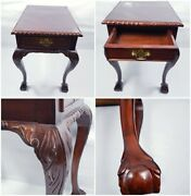 Hand Curved Library / Side / Hall Table 19th Century
