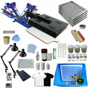 Diy Material 3 Color 1 Station Silk Screen Printing Kit Machine With Flash Dryer