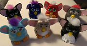 Vintage Mcdonalds Furby Happy Meal Toys 1998 Furbies Collection Lot Of 7