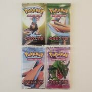Pokemon Ex Deoxys Booster Pack Art Set Lot Of 4 - New And Sealed