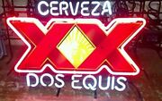 New Cerveza Xx Dos Equis Neon Light Lamp Sign 17x14 Real Glass Beer Artwork