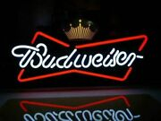 New Crown Bowtie Bow Tie Neon Light Lamp Sign 17x14 Real Glass Beer Bar