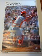 Johnny Bench Vintage Sports Illustrated Poster 1978 36 X 24 Nm/mt Rare Reds