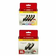 Canon Cli-271 - Black Cyan Magenta Yellow - 4 Color Pack And Canon Pgi-270 Xl