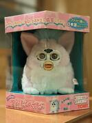 Tomy Furby Baby Pink / White Japanese Figure Vintage New Unopened From Japan F/s