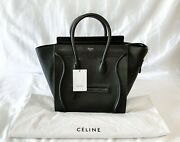 New Black Celine Mini Luggage Tote With Tags
