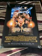 Vintage 2001 Harry Potter And The Sorcerers Stone 48x72andrdquo Bus Stop Movie Poster