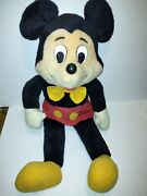 Very Large Knickerbocker Toys Mickey Mouse Plush Figure Over 30 In Tall.