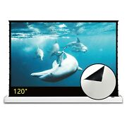 Vividstorm 120 Electric Floor Stand White Cinema Projector Screen Home Movie