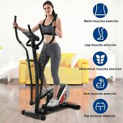 Elliptical Machine Cross Trainer Lcd Monitor Fitness Cardio Workout Home Gym Usa