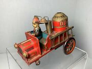 Vintage Fire Truck Modern Toys Tin Toy Made In Japan For Parts